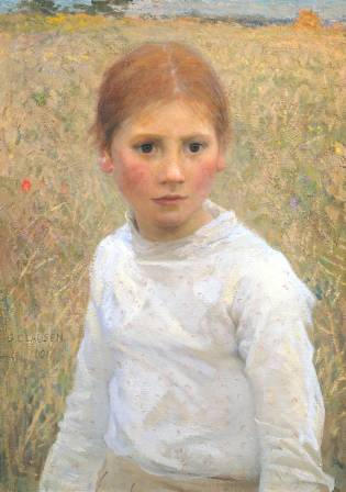 Brown Eyes 1891 Sir George Clausen 1852-1944 Presented by C.N. Luxmoore 1929 http://www.tate.org.uk/art/work/N04484