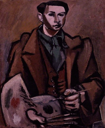 by Ceri Richards, oil on composition board, 1934