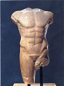 Archaic torso of apollo