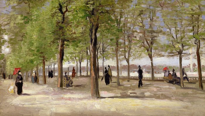 Van Gogh Lane at the Jardin du Luxembourg